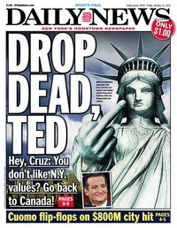 Call the FBI! Ted Cruz said that New York does not have Conservative values!!